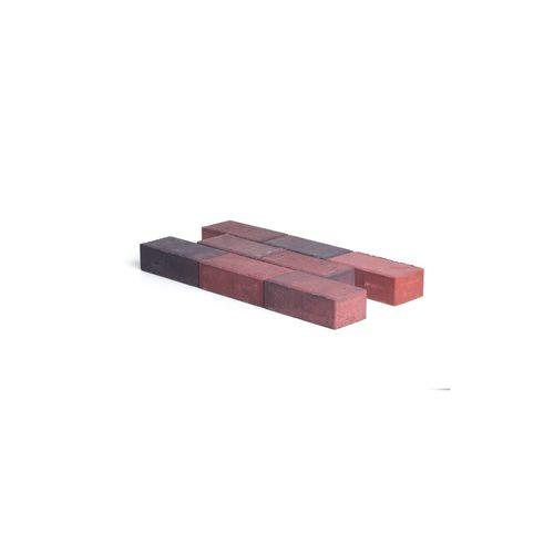Pavé en béton Coeck 22x11x7 rouge noir chanfrein 3,5/5,5 benor