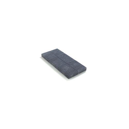 Coeck getrommelde in-line klinker zwart 20x30x6cm 208st