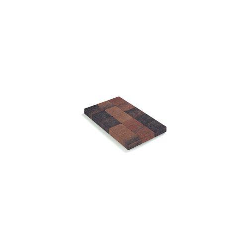 Pavé tambouriné Coeck finition in-line brun-noir 15x15x6cm 520 pcs