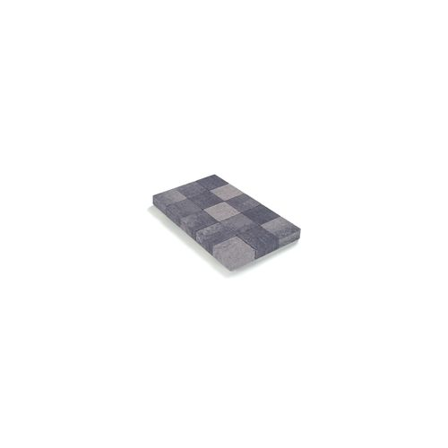 Coeck getrommelde in-line klinker grijs-zwart 15x15x6cm 520st