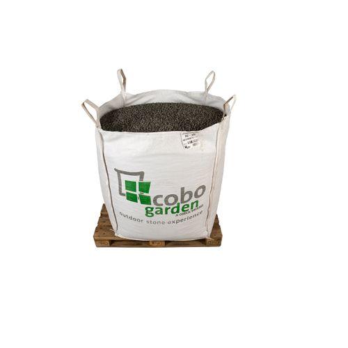 Gravier décoratif Coeck basalte nero 8-11 mm 1500kg Big bag 1m³ + palette