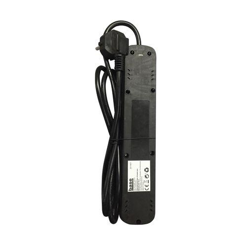 Baseline stekkerdoos 5-voudig zwart 1,5m 3G1.0