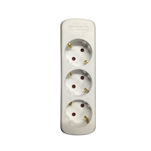 Baseline 3-weg multi-outlet blok wit