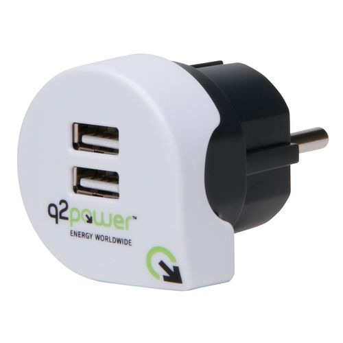 Adaptateur Power Q2 USB Kopp blanc