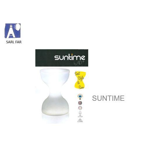Tabouret solaire 'Suntime' LED transparant