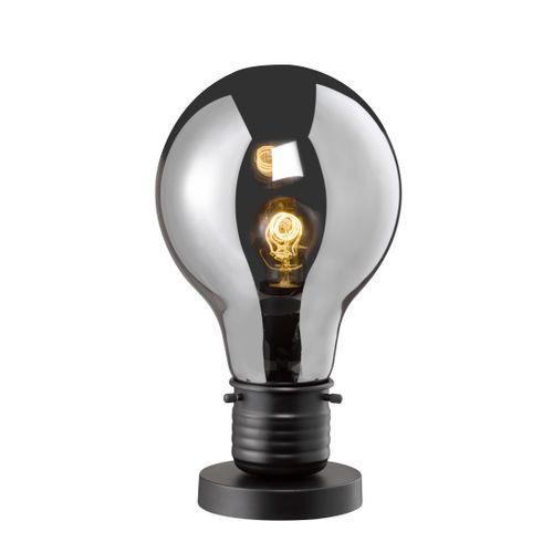 Fischer & Honsel tafellamp Louis E27 zwart