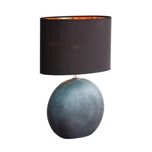 Fischer & Honsel tafellamp Foro groen/zwart E27
