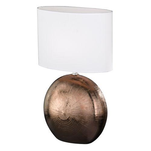 Fischer & Honsel tafellamp Foro koper/wit E27