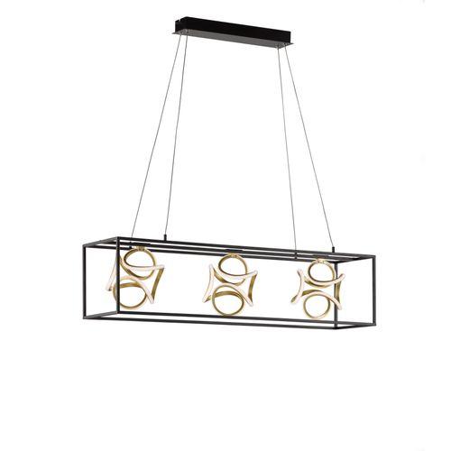 Suspension Fischer & Honsel LED Gesa noir 3x16W