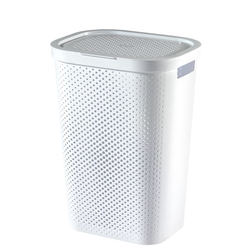 Curver wasmand Infinity dots wit 60L - 100% recycled