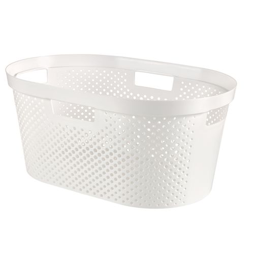 Curver wasmand Infinity dots wit 40L - 100% recycled