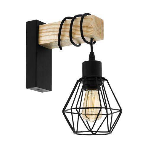 EGLO wandlamp Townshend 5 zwart E27