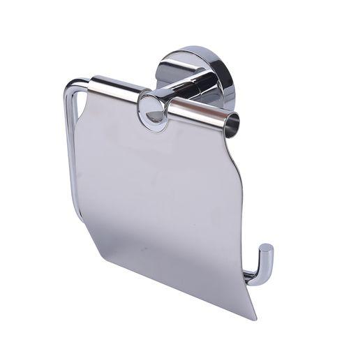 Porte-papier de toilette avec couvercle AquaVive chrome