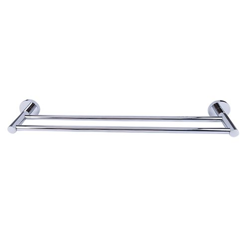 Porte-serviette double AquaVive 45cm chrome
