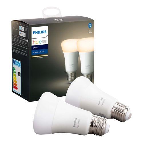 Philips Hue lamp standaard warm wit E27 2 stuks