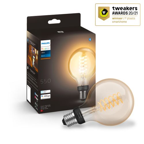 Philips Hue filament lamp globe warm wit E27