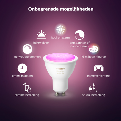 Philips Hue starterkit color and white Ambiance 3xGU10