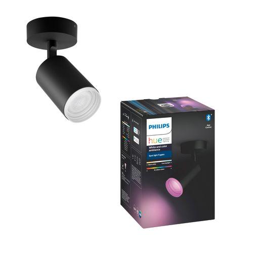 Philips Hue spot Fugato zwart 5,7W