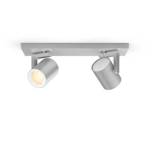 Philips Hue spot Argenta aluminium 2x5,7W