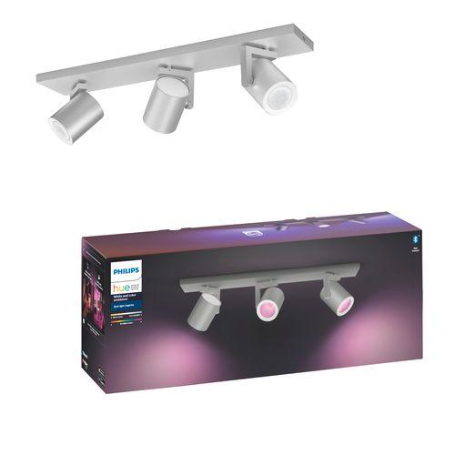 Philips Hue spot Argenta aluminium 3x5,7W