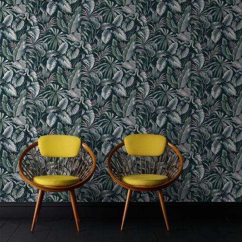 Papier peint intissé Sublime Feuillage exotique vert