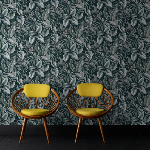 Sublime vliesbehang Leaves exotique groen