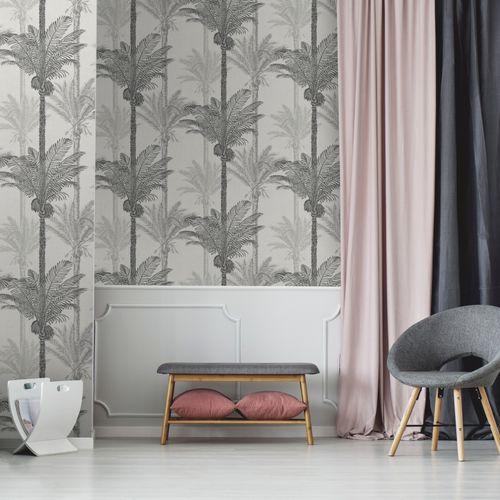 Papier peint intissé Sublime Palmier exotique gris