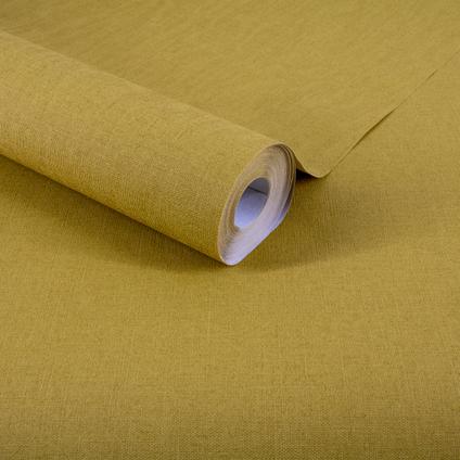 Papier peint intissé DecoMode Basic textile ocre