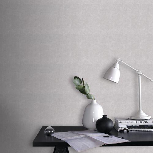 Papier peint intissé DecoMode textile gris foncé
