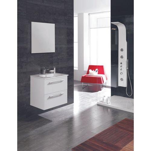 Meuble de salle de bain Royo Level blanc brillant 60cm