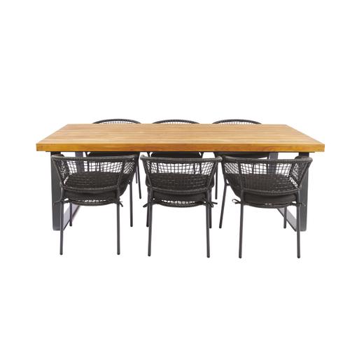 Chaise de jardin Central Park Ciotat aluminium/wicker noir