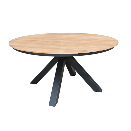 Table de jardin Central Park Sanary teck Ø150cm
