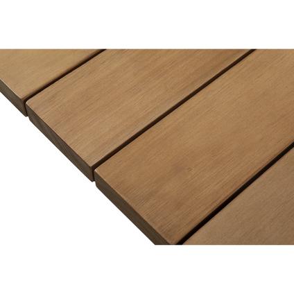 Table de jardin Central Park Piana eucalyptus/aluminium 207x100cm