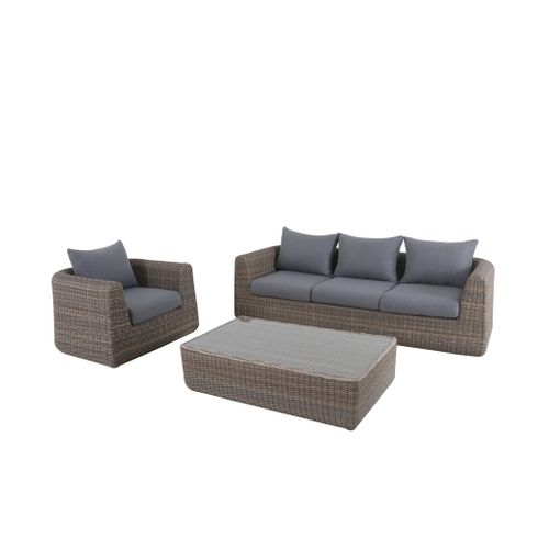 Ensemble lounge Central Park Dieppe 3pcs brun/gris - 2020 -