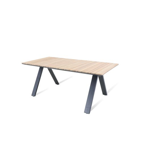 Table de jardin Central Park Albi teck 183x90