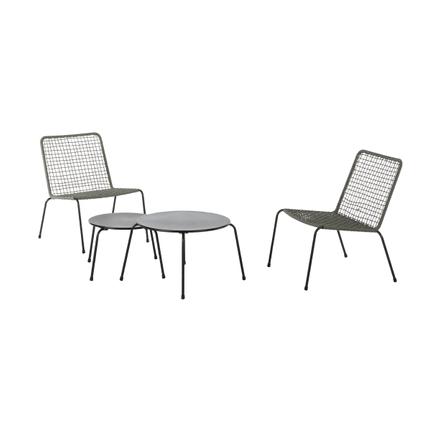 Table d'appoint de jardin Central Park Capri noir acier Ø48cm