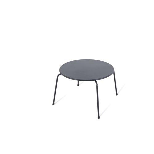 Table d'appoint de jardin Central Park Capri noir acier Ø60cm