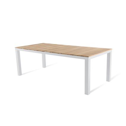 Table de jardin Central Park Bonifacio aluminium/teck 215x100cm