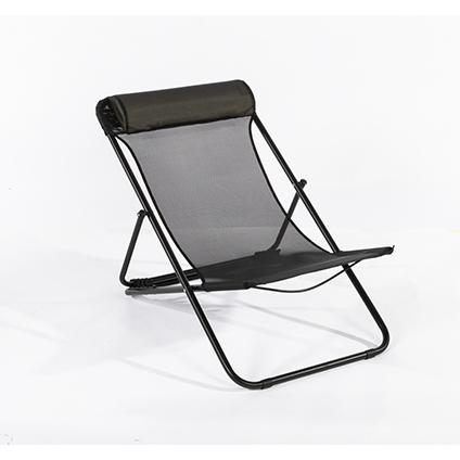 Chaise de plage Central Park Sevilla acier noir