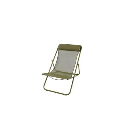 Chaise de plage Central Park Sevilla acier vert foncé