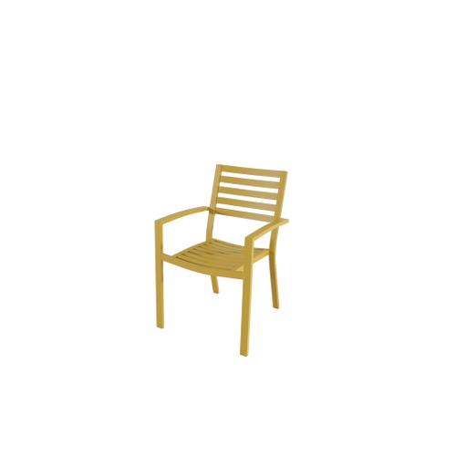 Chaise de jardin Central Park Vina aluminium jaune