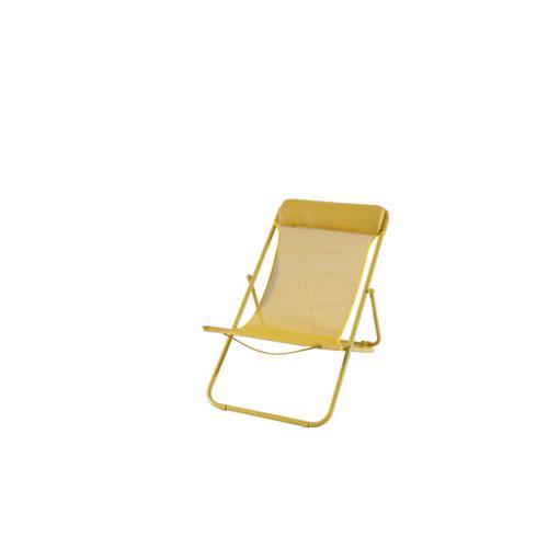 Central Park strandstoel Sevilla staal geel