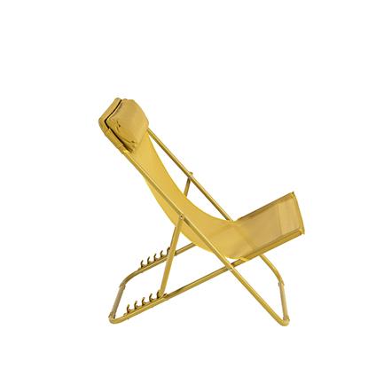 Chaise de plage Central Park Sevilla acier jaune