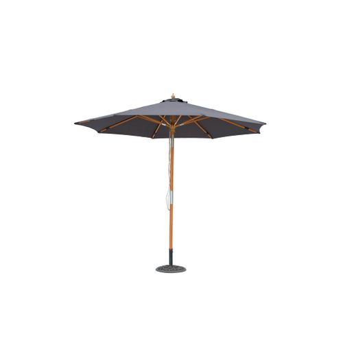 Parasol Central Park Vada bois 2,9m anthracite