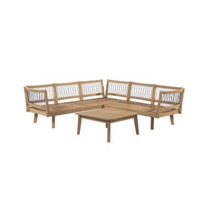 Ensemble lounge Central Park Mimizan 3pcs bois - 2020 -