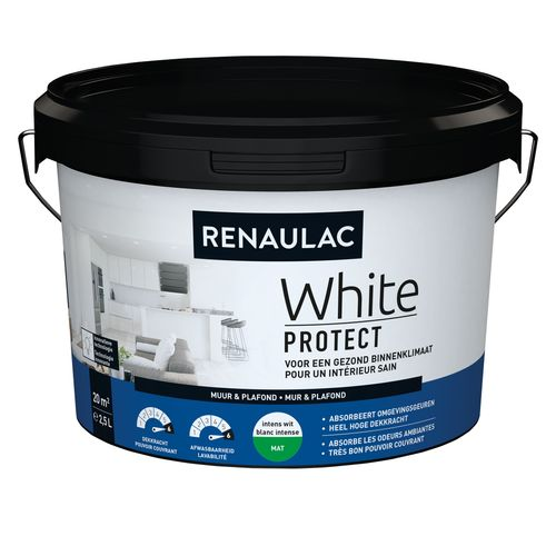 Renaulac latex White Protect mat wit 2,5L
