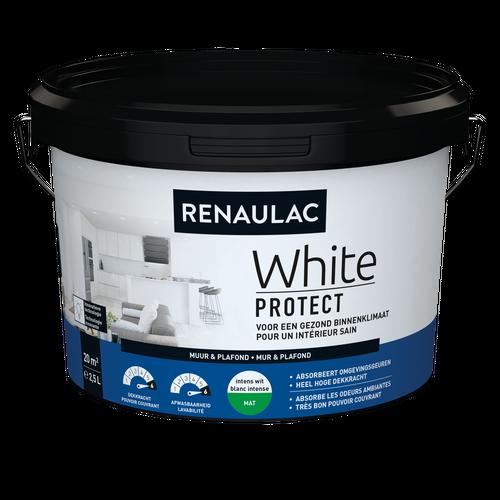 Renaulac binnenmuurverf White Protect mat wit 2,5L