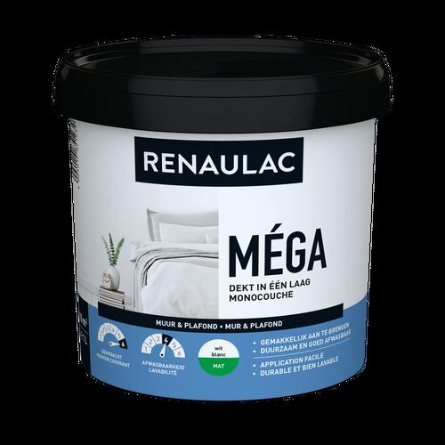 Renaulac binnenmuurverf Méga mat wit 1L