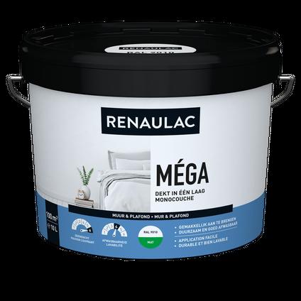 Renaulac binnenmuurverf Méga mat RAL 9010 10L