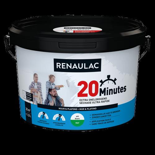 Renaulac binnenmuurverf 20 Minutes mat wit 2,5L